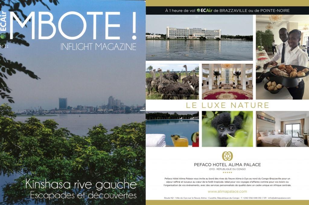 Pefaco Hotel Alima Palace 5* dans le magazine d'ECAir, Mboté!