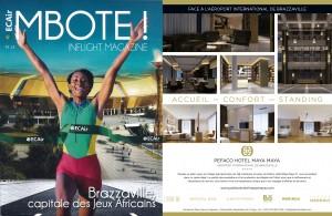 Pefaco Hotel Maya Maya 5* dans le 13ème numéro de Mboté!, le magazine d'ECAir