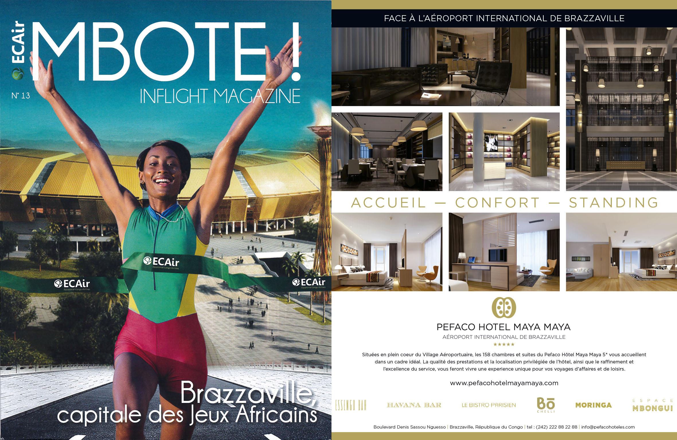 Pefaco Hotel Maya Maya 5* in Mboté!, ECAIR's magazine — PEFACO HOTEL